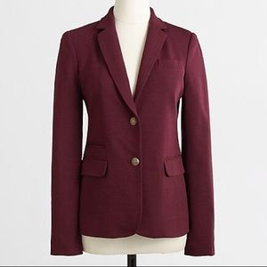 J Crew NWT burgundy stretch knit blazer ✨